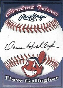 Autographed-Signed-Signature-Card-Dave-Gallagher-Cleveland-Indians-Tough-Signer