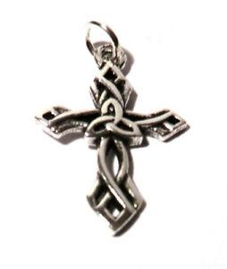 keltisches Kreuz Anhänger 925 Sterling Silber Schmuck Neu Damen + Kinderschmuck