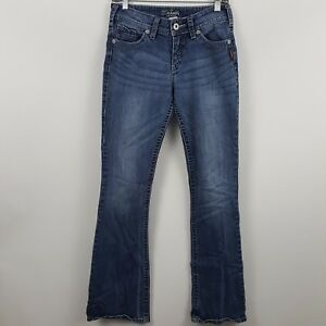 Silver-Suki-Boot-Cut-Women-039-s-Medium-Wash-Blue-Jeans-Size-27-x-32-Actual-28-x-32