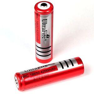 2-x-Ultra-Fire-4200-mAh-Lithium-Ionen-Akku-3-7-V-von-BRC-Typ-18650-Li-ion