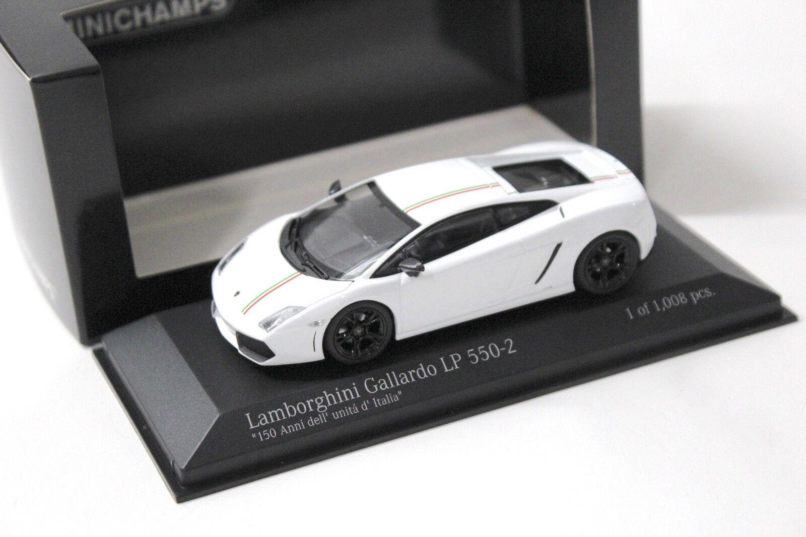1 43 Minichamps Lamborghini Gallardo lp560-2 triCouleure New chez Premium-modelcars