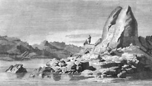 EGYPT. Sculptured granite Rock, Philae c1790 old antique vintage print picture