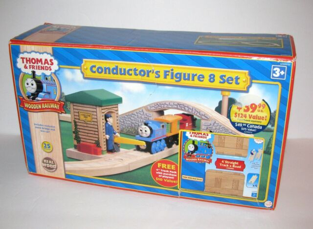 Thomas Friends Wooden Railway Set Conductor Figure 8 With Added Track