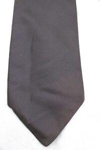 DONNA-KARAN-Signature-Pewter-Gray-Diagonal-Stripe-100-Italian-Silk-Tie-USA
