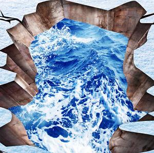 3d Bleu Mer 7 Fond D'écran étage Peint En Autocollant Murale Plafond Chambre Art Remises Vente