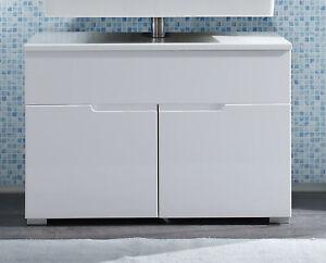 Waschbeckenunterschrank weiss Hochglanz Badezimmer Unterschrank ...