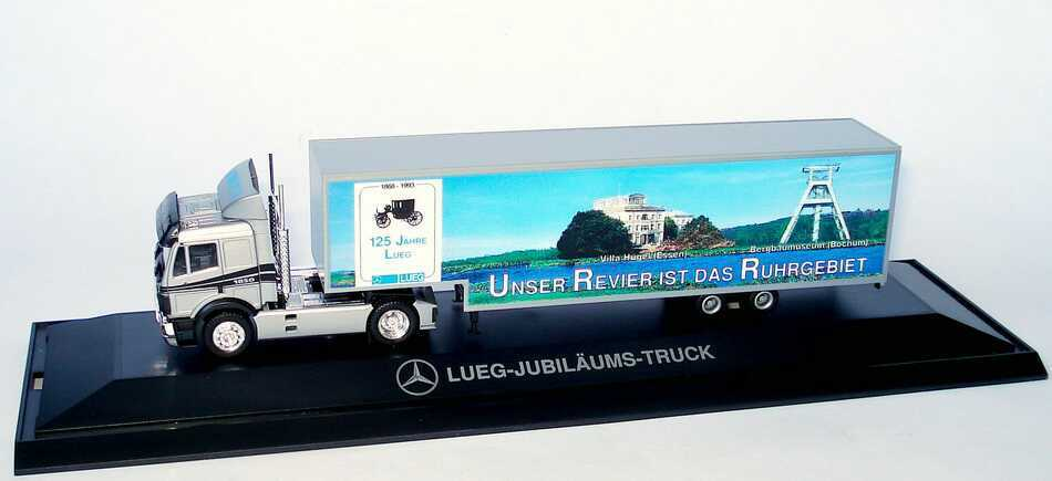 1 87 MERCEDES-BENZ SK 88 Lorry 125 Years Car Dealership Lueg - Herpa PC
