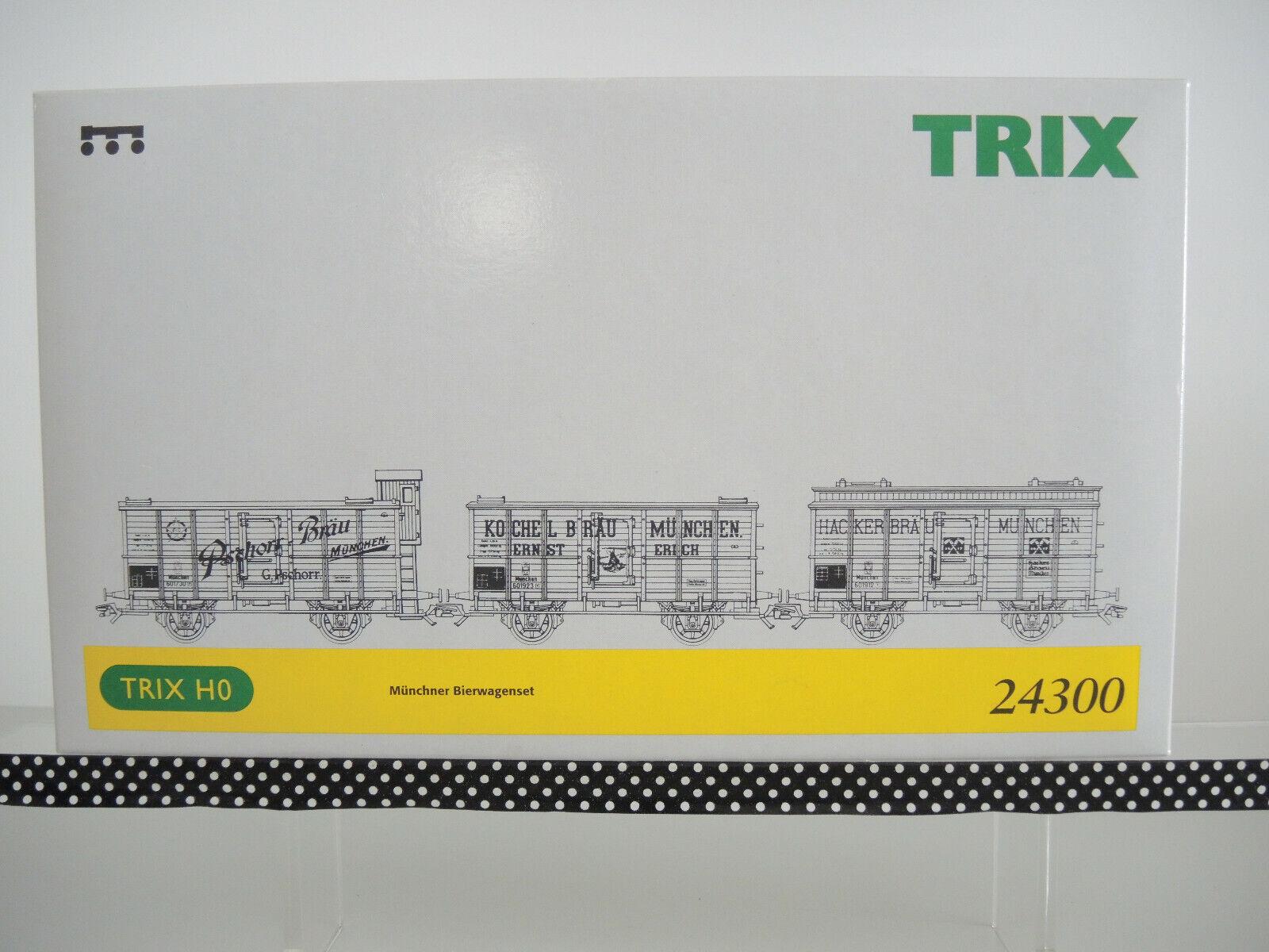 Trix International HO 24300 Munich Beer Wagenset, 3 pieces, KKK, TOP OP