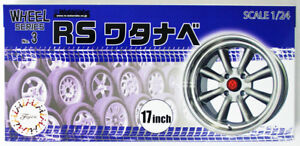 Fujimi-193441-W-3-1-24-Scale-RS-Watanabe-17-inch-Wheel-and-Tire-Set