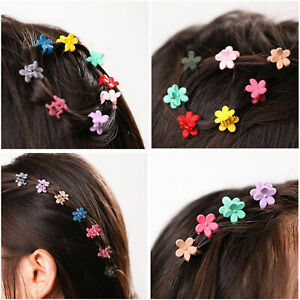 30x-Cute-Kids-Baby-Mini-Claw-Girls-Hairpins-Flower-Hair-Clips-Clamp-Candy-Colour