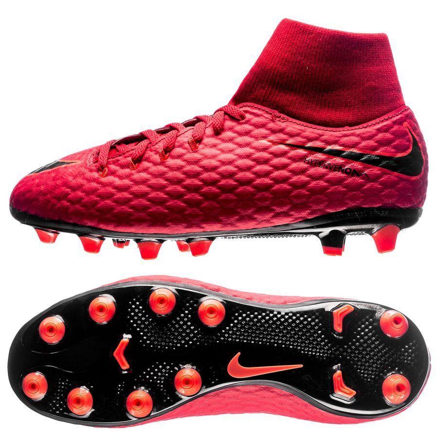 NIKE JR HYPERVENOM PHELON 3 DF AG-PRO FOOTBALL BOOTS RED 917770-616 BOYS UK4.5 5