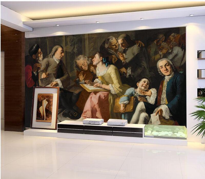 3D Socialement 31 Photo Papier Peint en Autocollant Murale Plafond Chambre Art