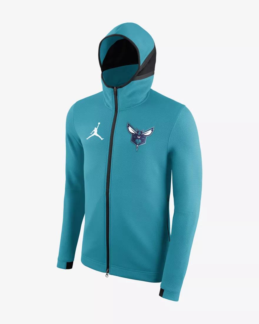 NIKE NBA CHARLOTTE HORNETS JORDAN THERMA SHOWTIME HOODIE (940116 428) Größe (XXL)