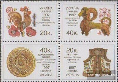 Angemessen Ukraine 230c-233c Viererblock Postfrisch 1997 Volkskunst Hoher Standard In QualitäT Und Hygiene kompl.ausg.
