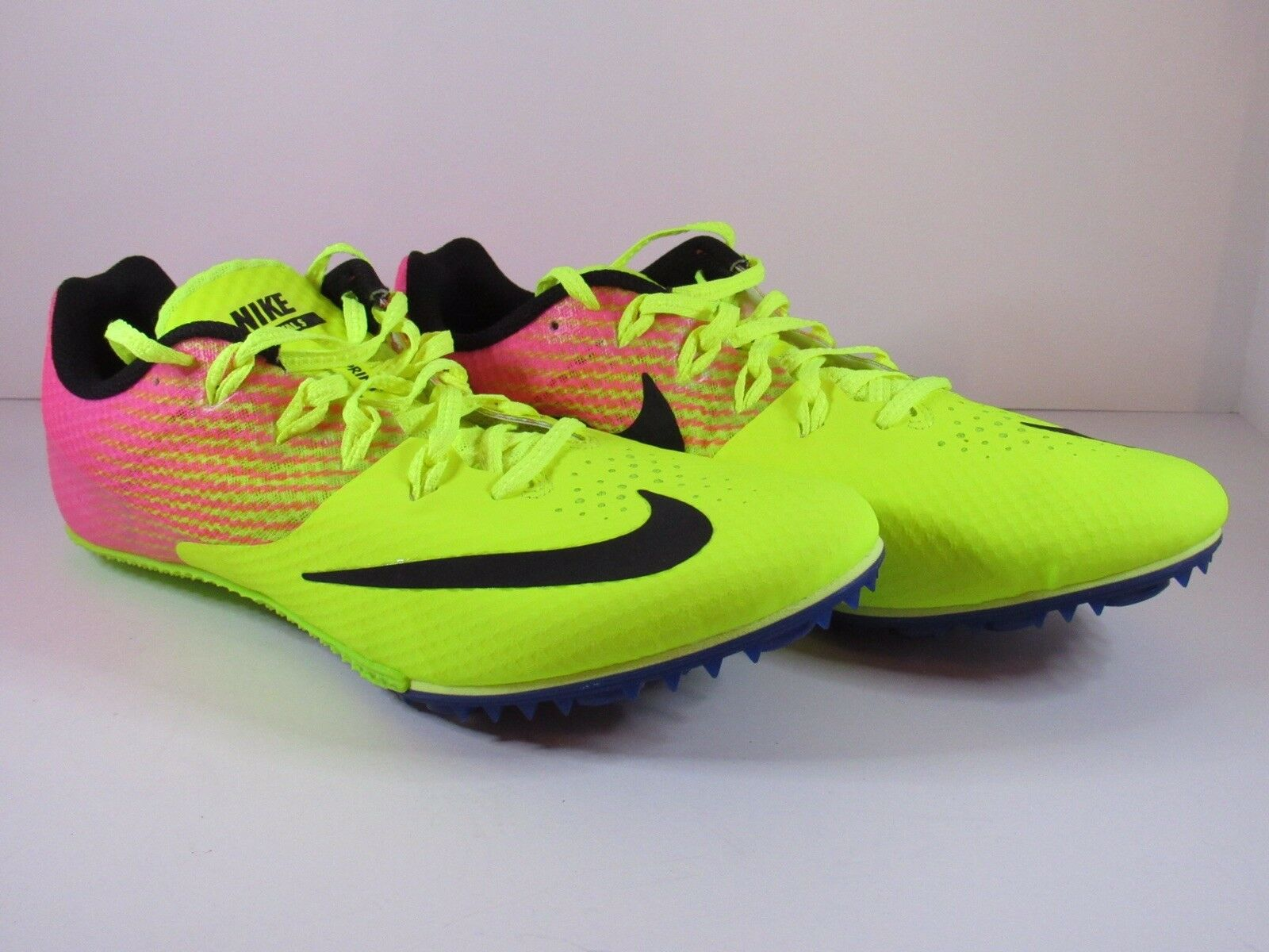 Special limited time Nike Zoom Rival S Track Running Spikes Volt Pink Men's Comfortable