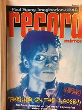 Record Mirror December 3rd 1983 Michael Jackson Thriller Cover Paul Young