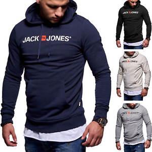 73b0fe50937620 Das Bild wird geladen Jack-amp-Jones-Herren-Hoodie-Kapuzenpullover -Herrenshirt-Pullover-