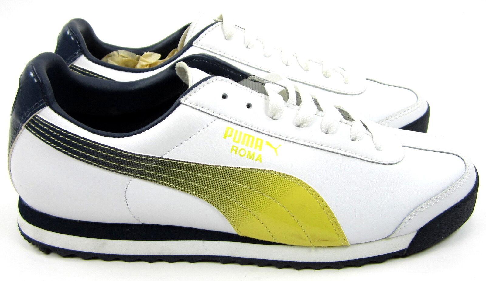 d2acf5b11 ... Zapatos Puma Roma deportivo blanco / amarillo / / / negro zapatillas  comodas gradiente modelo mas ...