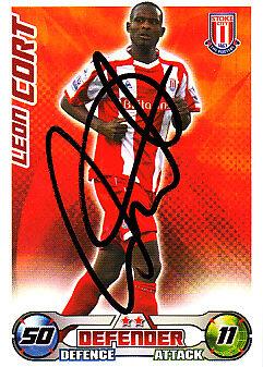 Stoke City F.c Leon Cort mano firmado 08//09 Campeonato Match Attax.