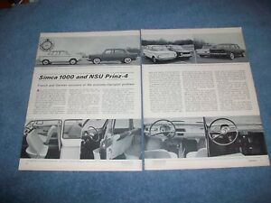Details About 1963 Simca 1000 Vs Nsu Prinz 4 Vintage Info Article French German Solutions