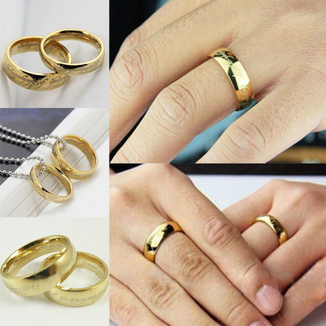 2015 Couple Lord of the Ring Gold The Hobbit one Ring Wedding Band Ring Gift 1PC