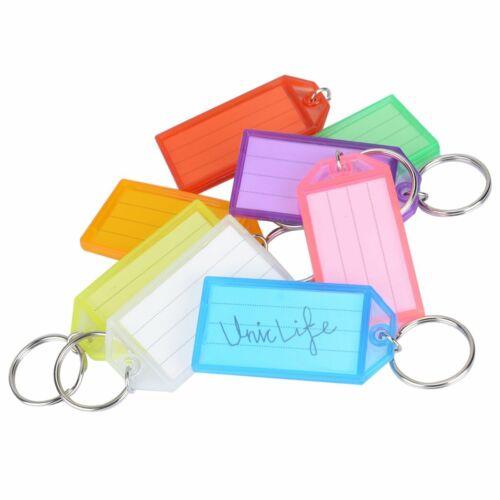 40er Pack Tough Plastic Key Tags mit Split-Ring-Beschriftungsfenster