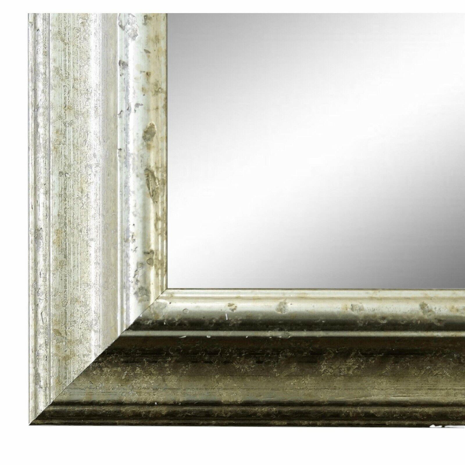 Spiegel Wandspiegel Bad Flur Holz Klassisch Retro Genua Silber 4,3 - NEU