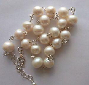 Collana girocollo perle di fiume 12 mm Argento 925