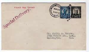 637-Roosevelt-639-McKinley-First-Day-Combo-Navy-Dept-Station-Gorham-1927-DC