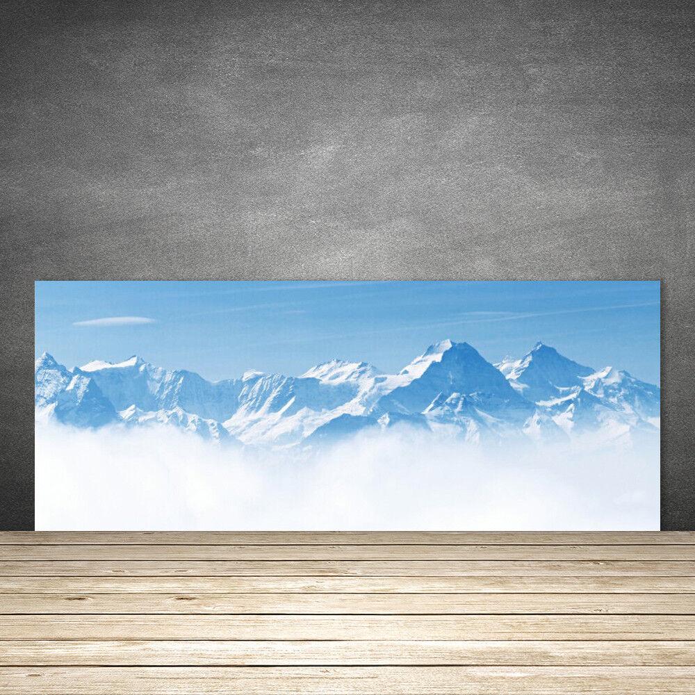 Crédence de cuisine en verre Panneau 125x50 Paysage Brouillard Montagne