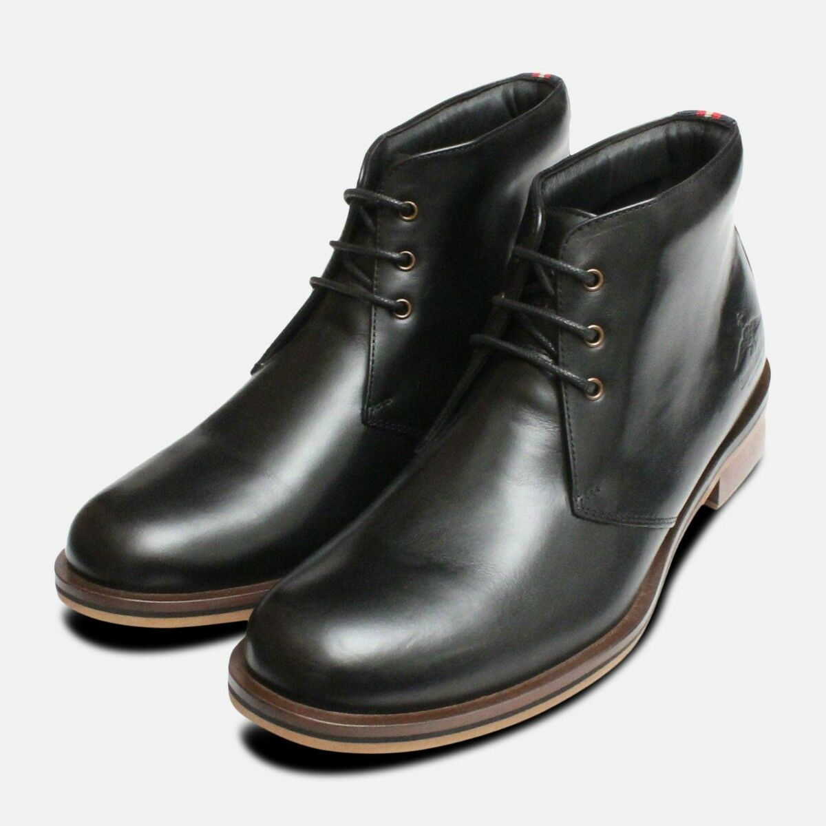 Thomas Partridge Digby Boots in Black Leather