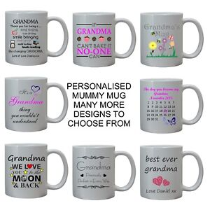 f5a82bb8e76 Image is loading PERSONALISED-GRANDMA-GIFTS-MUG-CUP-FUNNY-MOTHERS-DAY-