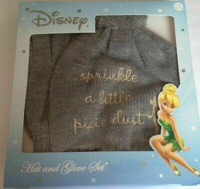 Disney Tinkerbell Bambina Cappello E Guanto Regalo Set Grigio Taglia Unica-scatola Nuovo Di Zecca In-mostra Il Titolo Originale Avere Uno Stile Nazionale Unico