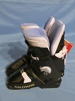 Women's Salomon Sx 50 5.0 Lady Snow Ski Boots Black & Purple Size 23.5 (6)