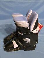 Women's Salomon Sx 50 5.0 Lady Snow Ski Boots Black & Purple Size 23.5 (6)