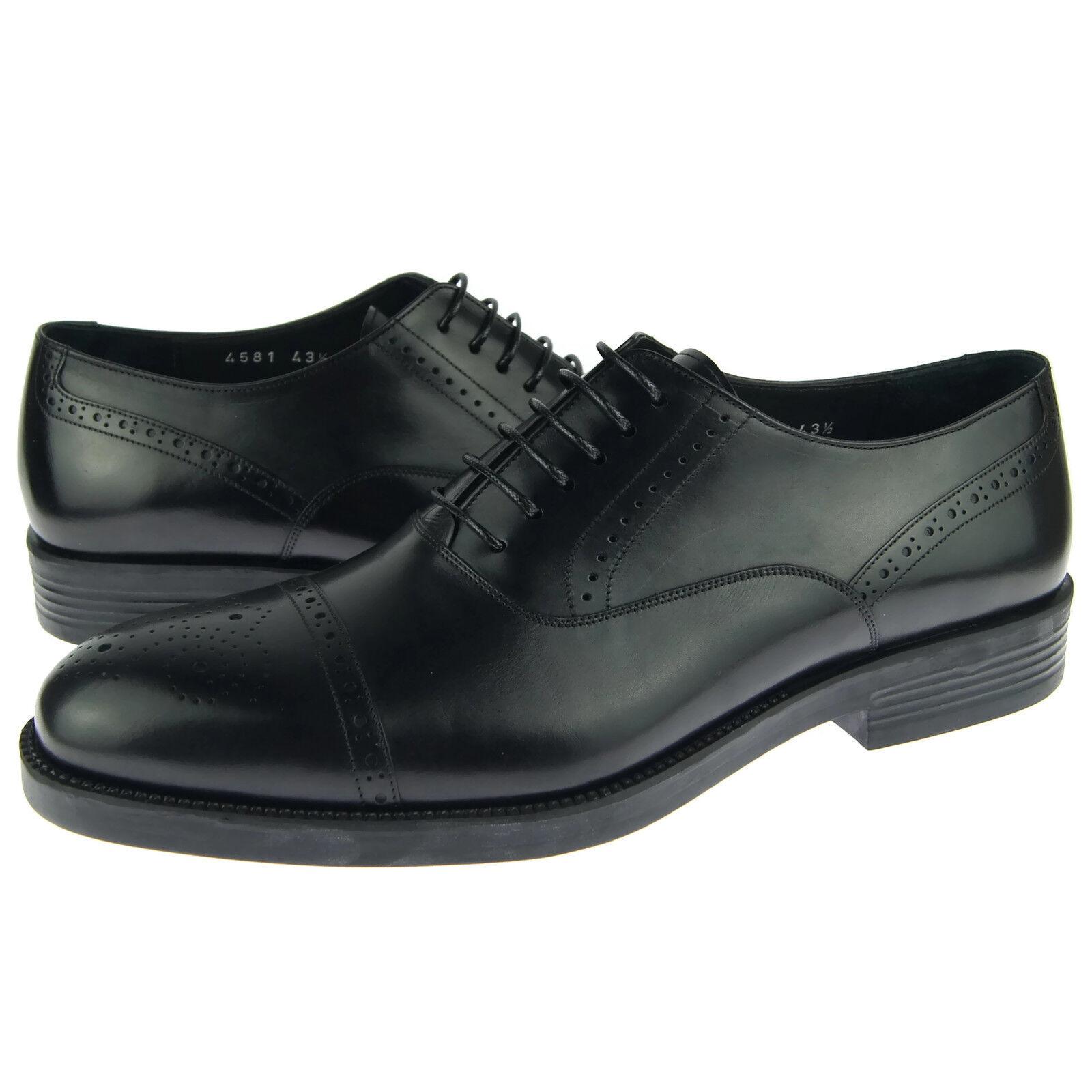 Corrente 4581 Cap Toe Oxford, para Hombre Vestido Informal Cuero Zapatos, Negro