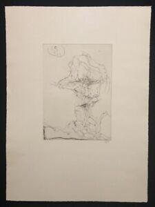 Horst Janssen, zietta, acquaforte, 1971, a mano firmata e datata