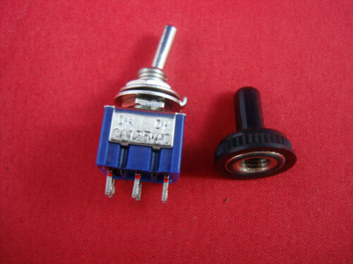 10PCS  DPDT Miniature Toggle Switch ON-ON Maintained Water Proof 6 Pins