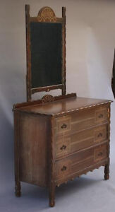 Image Is Loading 1930s Dresser W Mirror Amp Drawers Spanish Revival