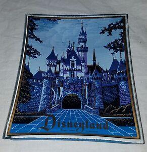 Vintage Disneyland Collectible Ashtray Walt Disney Sleeping Beauty Castle Glass