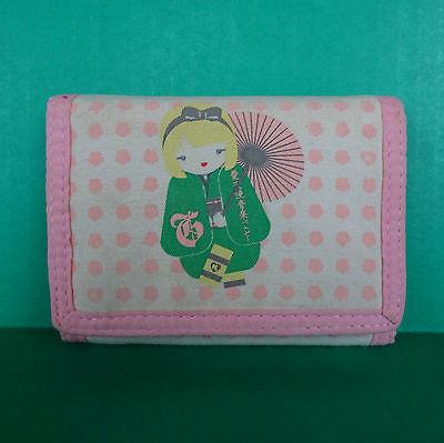 Harajuku Lovers Kokeshi Doll Wallet Three Fold Organizer Gwen Stefani