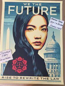 Shepard Fairey WE THE FUTURE Amanda Nguyen Litho Art Print Poster Obey Giant