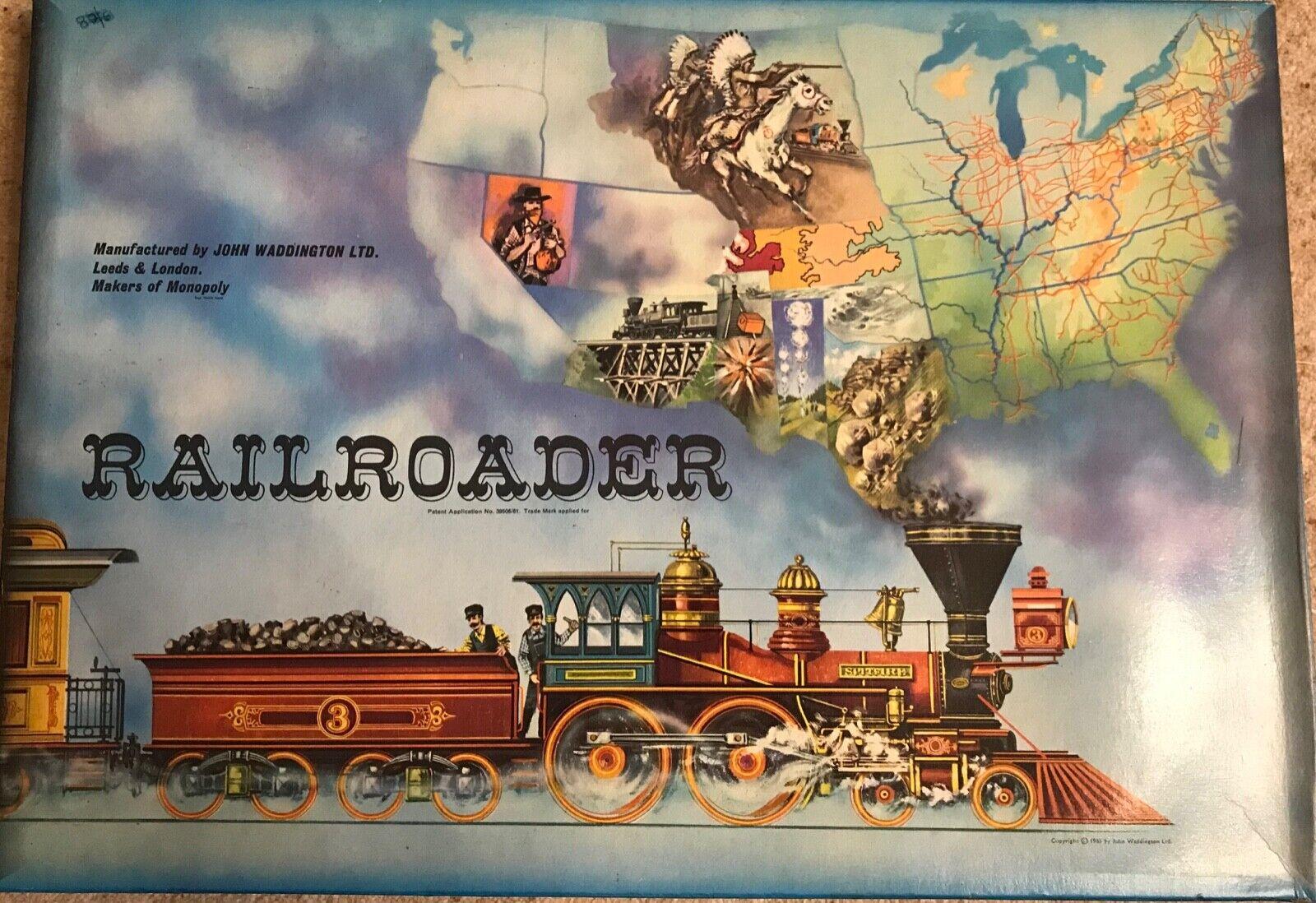 Vintage 1960s Railroader game by Waddington COMPLETE