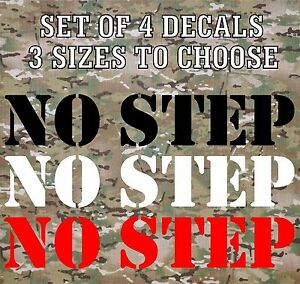 NO-STEP-Vinyl-Decals-Stickers-Stencil-Truck-Boat-Jeep-Army-Military-Airplane
