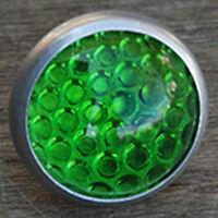 Green Round Glass Jewel Reflector Vintage Schwinn Bicycle Rack Antique Bike Car