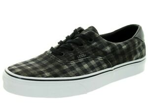 8db7515e057 Vans - ERA 59 Mens Shoes (NEW) Sizes 7-13 BLACK Distressed Plaid ...
