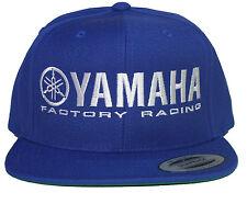 YAMAHA FACTORY RACING HAT CAP FLAT BILL SNAP BACK BLUE  MX YZF YFZ RI R6