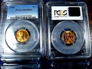 MS65RD-PCGS-Graded-1935-Lincoln-Wheat-Penny
