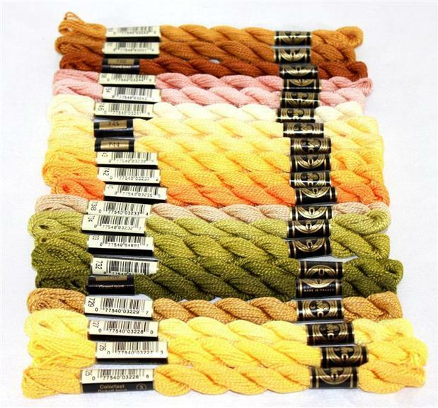 Size 3-15m  16.4 yd Skeins Larger Pkgs /& Full Available in Single Skeins 12 skein Black #310 DMC Perle Cotton Boxes