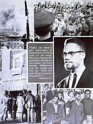 POLITICAL CIVIL RIGHTS AFRICAN AMERICAN MALCOLM X ISLAM ART PRINT POSTER CC1710